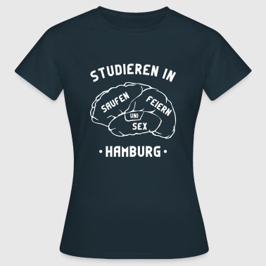 Studieren Hamburg Gehirn Party Uni Bachelor Master - Frauen T-Shirt