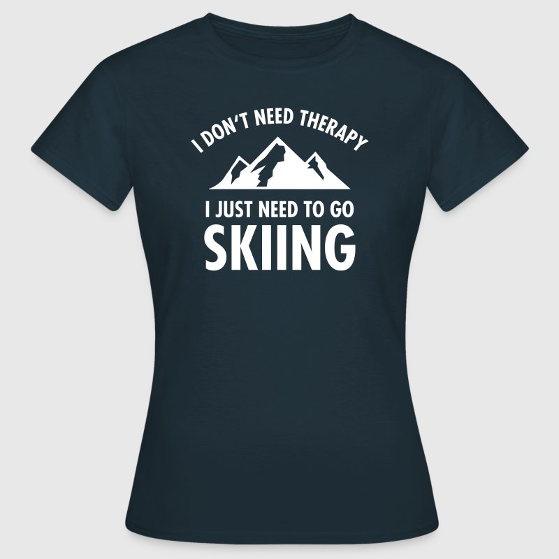 Therapy - Skiing - Dame-T-shirt