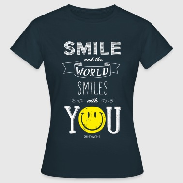SmileyWorld Smile and the world smiles with you - Koszulka damska