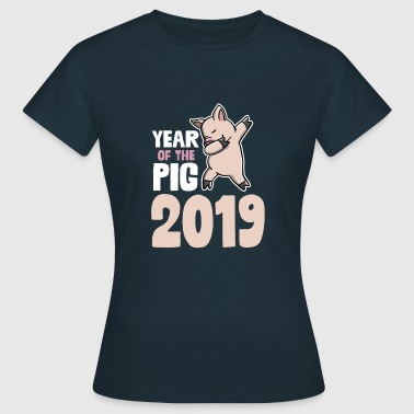 Year Of The Pig 2019 T-Shirt Dabbing Pig New Year - Women's T-Shirt