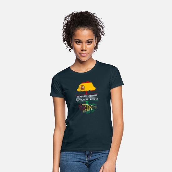 Patriot T-Shirts - Spanish Grown with Guyanese Roots - Women's T-Shirt navy