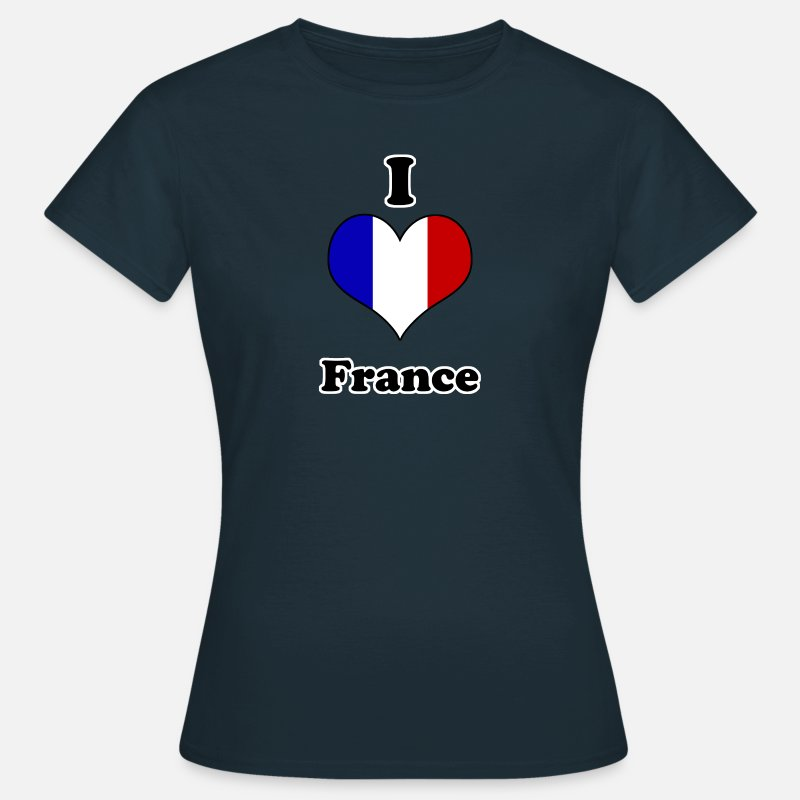 Europe T-Shirts - I love France - Women's T-Shirt navy