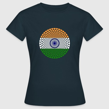 India INDIEN Love HERZ Mandala - Frauen T-Shirt