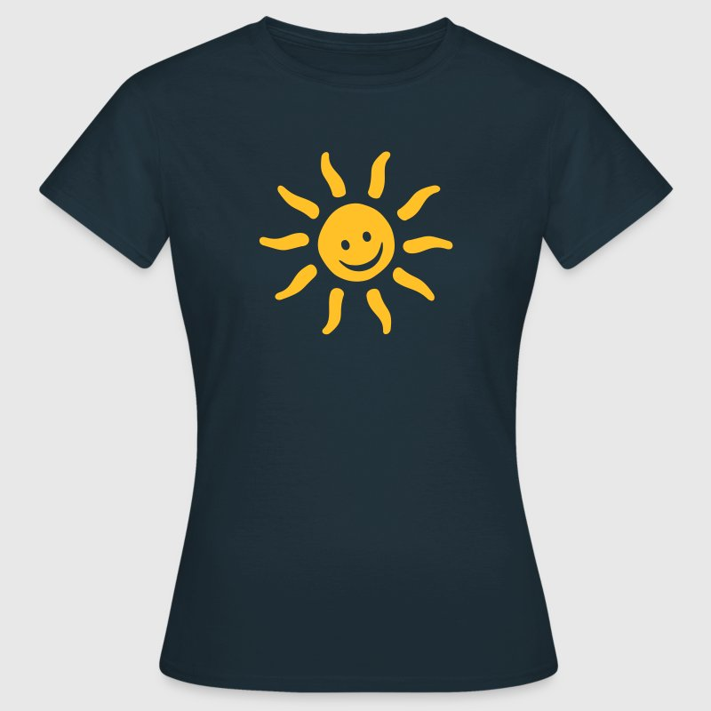 Be Happy Emojis - Summer  Sun Smile - Women's T-Shirt