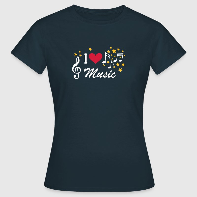 I love Music   - Women's T-Shirt