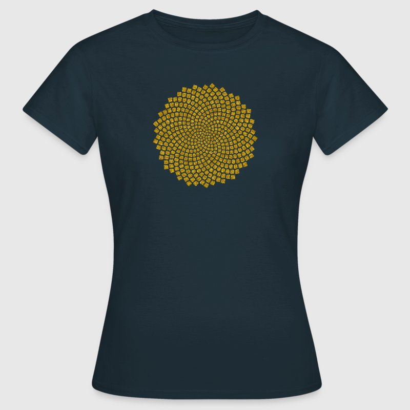 Sunflower Seed, Fibonacci spiral, Golden Ratio - Women's T-Shirt