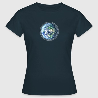 Gaia Flower of Life / Earth /  - Vrouwen T-shirt