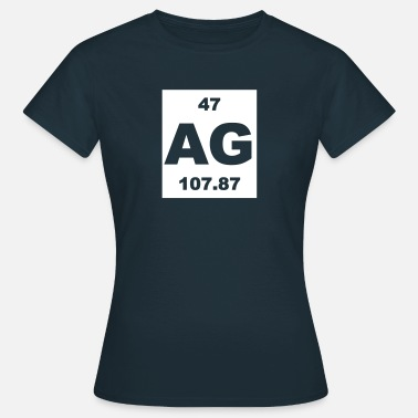 Argentum Argentum (Ag) (element 47) - Women's T-Shirt