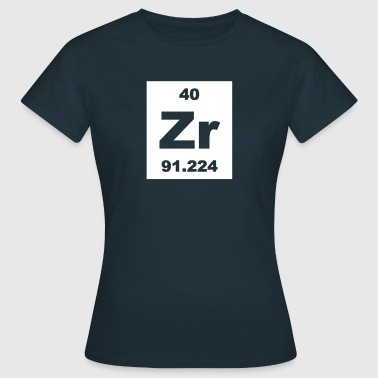 Zirconium (Zr) (element 40) - Women's T-Shirt