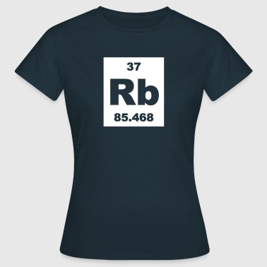 Element 37 - rb (rubidium) - Short-inv - Dame-T-shirt