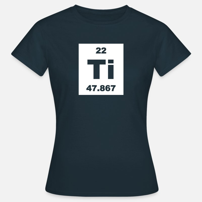 Element T-Shirts - Titanium (Ti) (element 22) - Women's T-Shirt navy