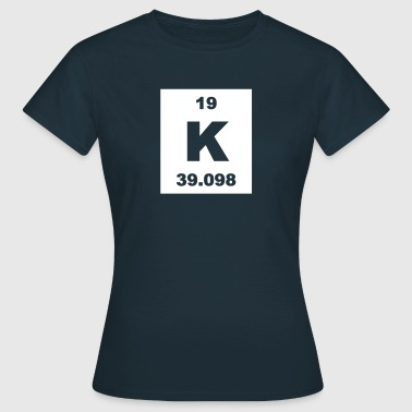 Element 19 - k (kalium) - Short-inv - T-skjorte for kvinner
