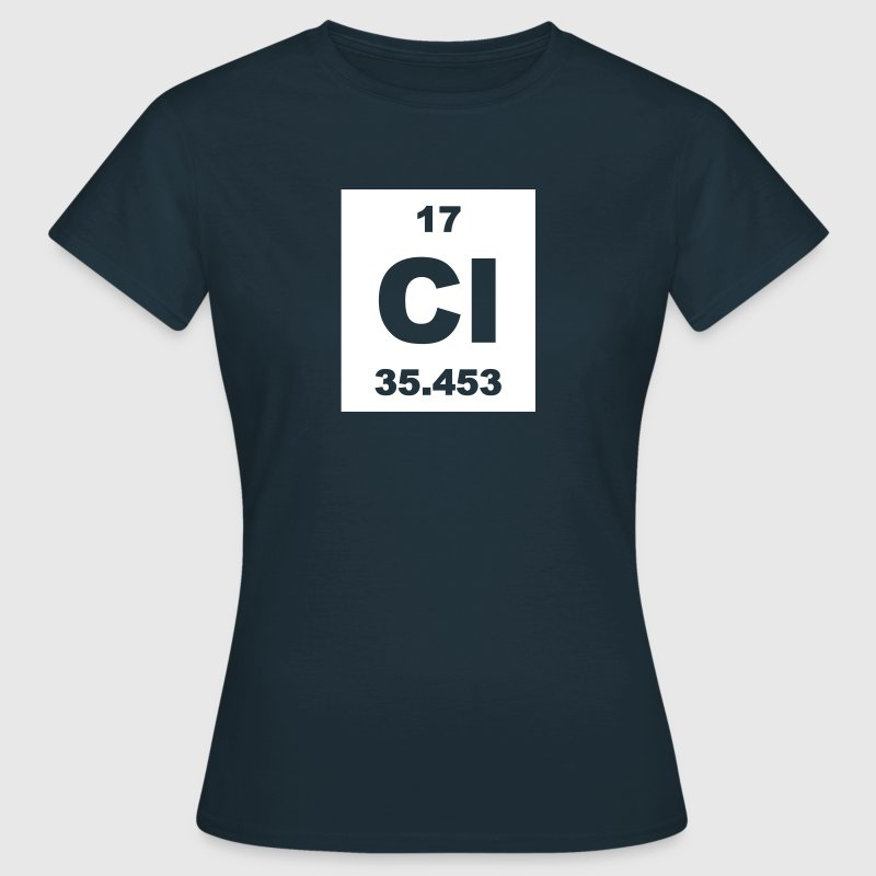 Chlorine (Cl) (element 17) - Women's T-Shirt