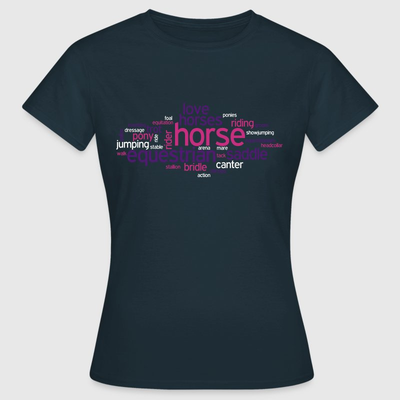 Horse Word Cloud - Women's T-Shirt