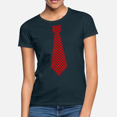 Karos Krawatte karo red - Women's T-Shirt