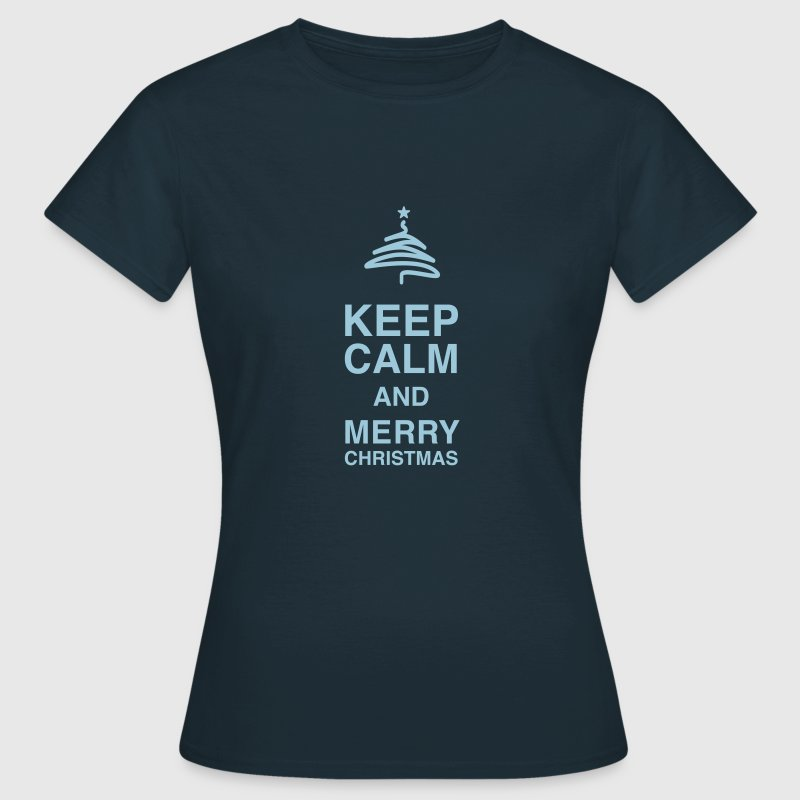 Keep Calm and glædelig jul - Dame-T-shirt