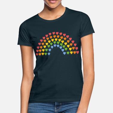 Rainbow Rainbow of hearts - Women's T-Shirt