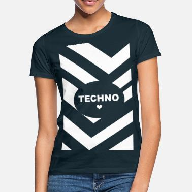 Electroniske TECHNO LOVE Festival Gave Stil Raver Club DJ - T-shirt dame