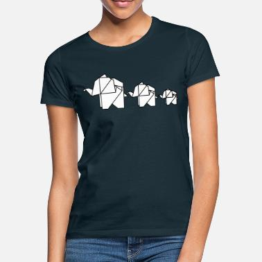 Family Origami, elephant, elefant, family, animal, cute - Women's T-Shirt