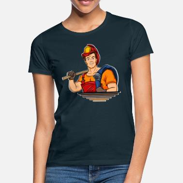 Cartoon Fire Fire Department Cartoon Comic - T-shirt dame