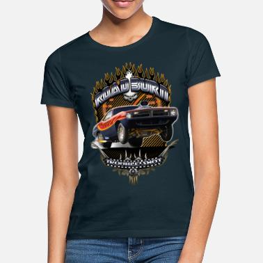 Muscle Car Barracuda Road Burn T-Shirts - T-shirt dam