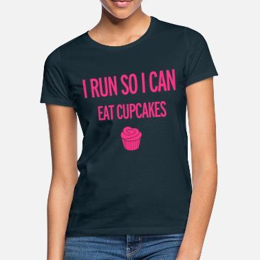 Funny Running Cupcakes - Women's T-Shirt