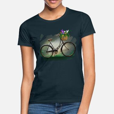 Spring Bicycle with flowers - Women's T-Shirt