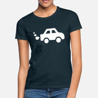 Exhaust Gases Car with exhaust gases - Women's T-Shirt