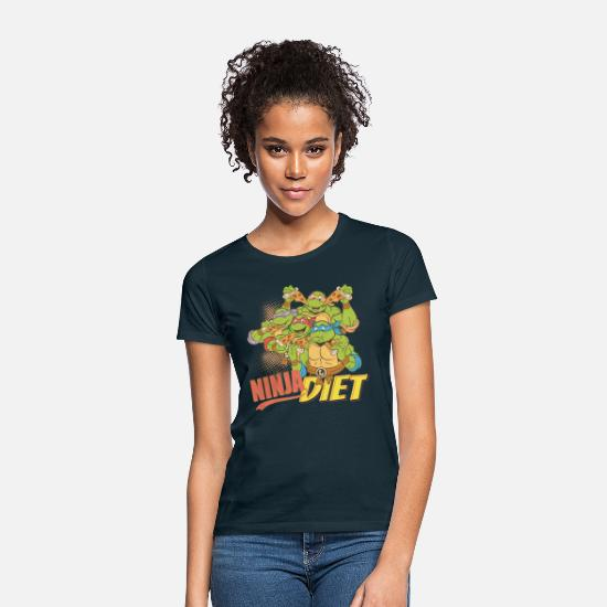 Foodie T-Shirts - TMNT Turtles Ninja Pizza Diet - Women's T-Shirt navy