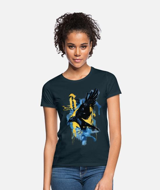 Bioscoopfilm T-shirts - Harry Potter Huis Ravenclaw raaf - Vrouwen T-shirt navy