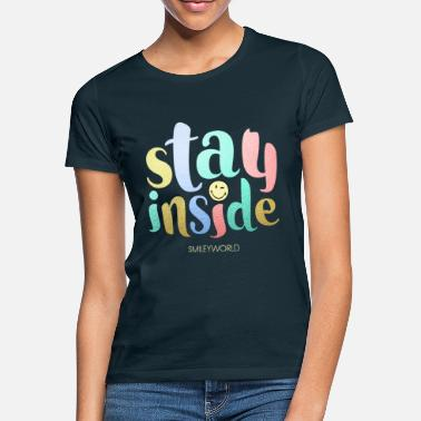 Statement SmileyWorld Stay Inside - Frauen T-Shirt