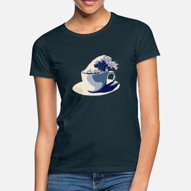 Japan Welle Coffee Wave - Frauen T-Shirt