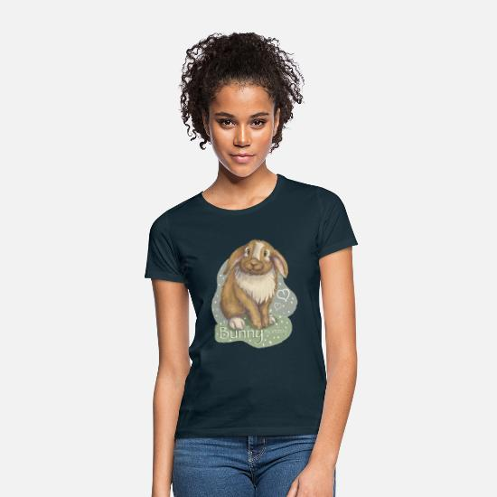 Niedlich T-Shirts - Bunny Mommy - Frauen T-Shirt Navy