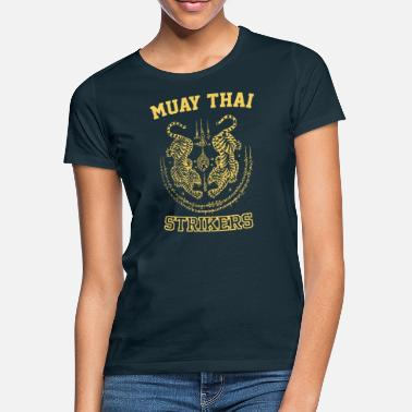 Sak Muay Thai Kickboxing Fighter Tigers - T-shirt dam