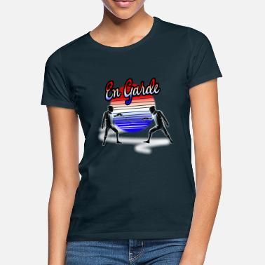 Physical Way Of Chess Fencing En Garde France T-Shirt - Frauen T-Shirt