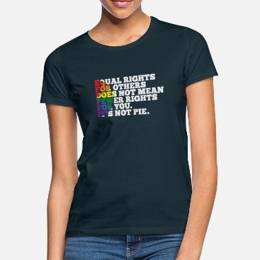Rights Equality Lesbian Gay Bisexual - Women's T-Shirt