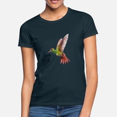 Watercolor green hummingbird watercolor gift - Women's T-Shirt