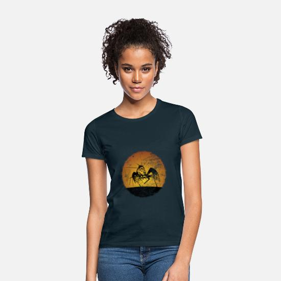 Seafood T-Shirts - Crustacean crab - Women's T-Shirt navy