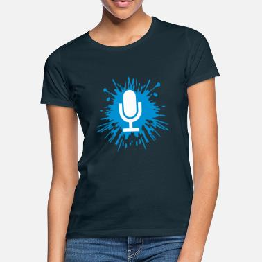 Records Drop Microphone Icon - Women's T-Shirt