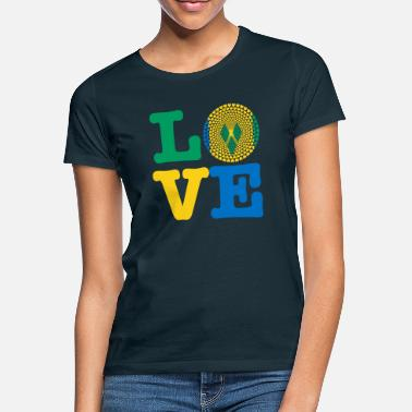Saint Vincent And The Grenadines ST VINCENT GRENADIN HEART - Women's T-Shirt