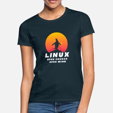 Open Source Linux - Open Source Open Mind - T-shirt dame