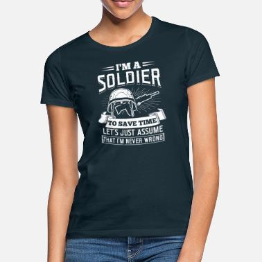 Boot Camp Soy un Soldier Army Gift Navy Military Boot Camp - Camiseta mujer