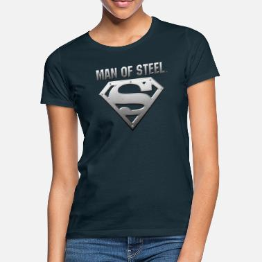 Superman Tee-shirt Enfant Superman S-Shield Steel Look - T-shirt Femme