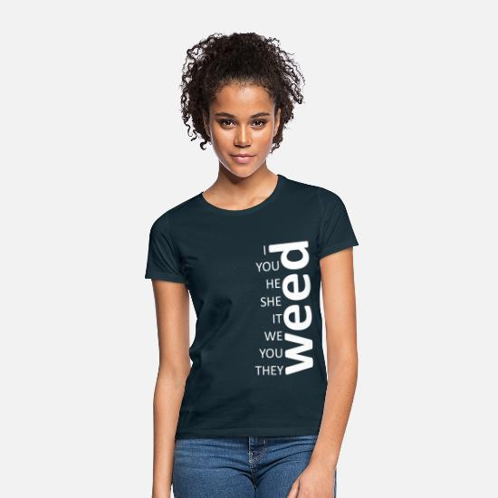 Tuxedo T-Shirts - weed together white - Women's T-Shirt navy