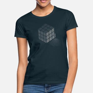 Rubik's Cube Stippling Dotted Cube - Vrouwen T-shirt
