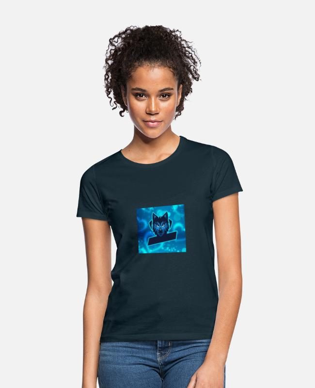 Maan T-shirts - Wolven - Vrouwen T-shirt navy