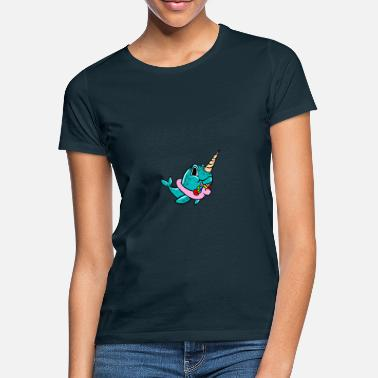 Narval Narwhal On Unicorn Float Lifebuoy Float Cool - T-shirt dam