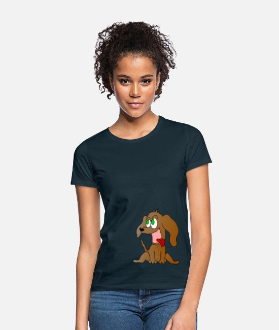 Love T-Shirts - Charly the dog - Women's T-Shirt navy