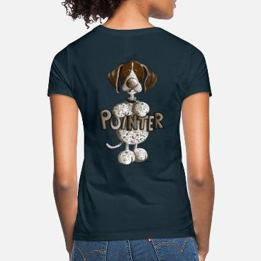 Caricature Happy German Shorthaired Pointer - Women's T-Shirt