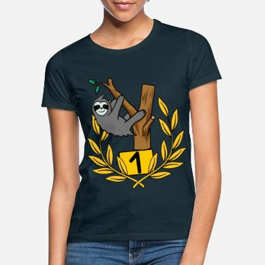 Prize Ceremony Sloth Lazy Placement Winner Winner Success - Women's T-Shirt